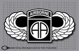 NonReflective or Reflective 82nd AA Airborne Division Parachutist Jump Wings Army sticker decal