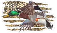 American Flag Drake Mallard Decal
