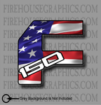 Ford F-150 F-Series American flag Truck sticker decal