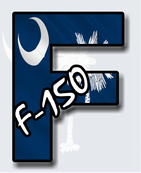 Ford F-150 F-Series South Carolina Palm and Moon Truck sticker decal