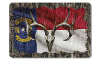 North Carolina Whitetail Buck Skull Camo Cooler Lid Skin Decal