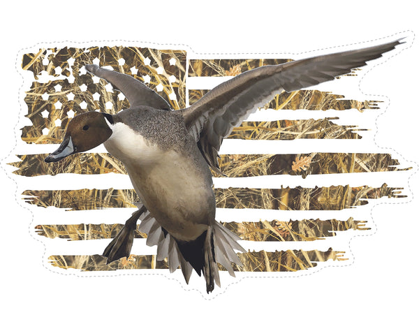 American Flag Pintail Decoying Decal
