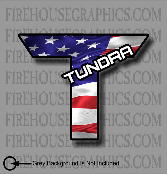 Toyota Tundra American flag Truck sticker decal