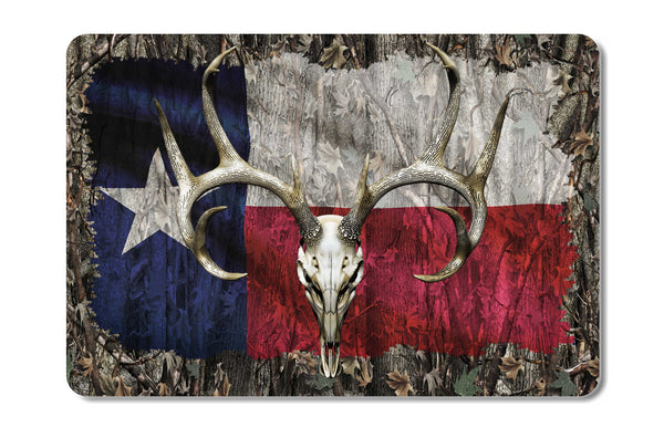 Texas Whitetail Buck Skull Camo Cooler Lid Skin Decal