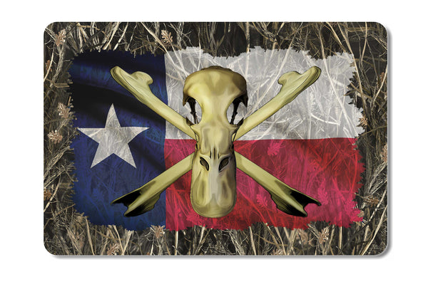 Texas Drake Duck Skull Bones Camo Cooler Lid Skin Decal