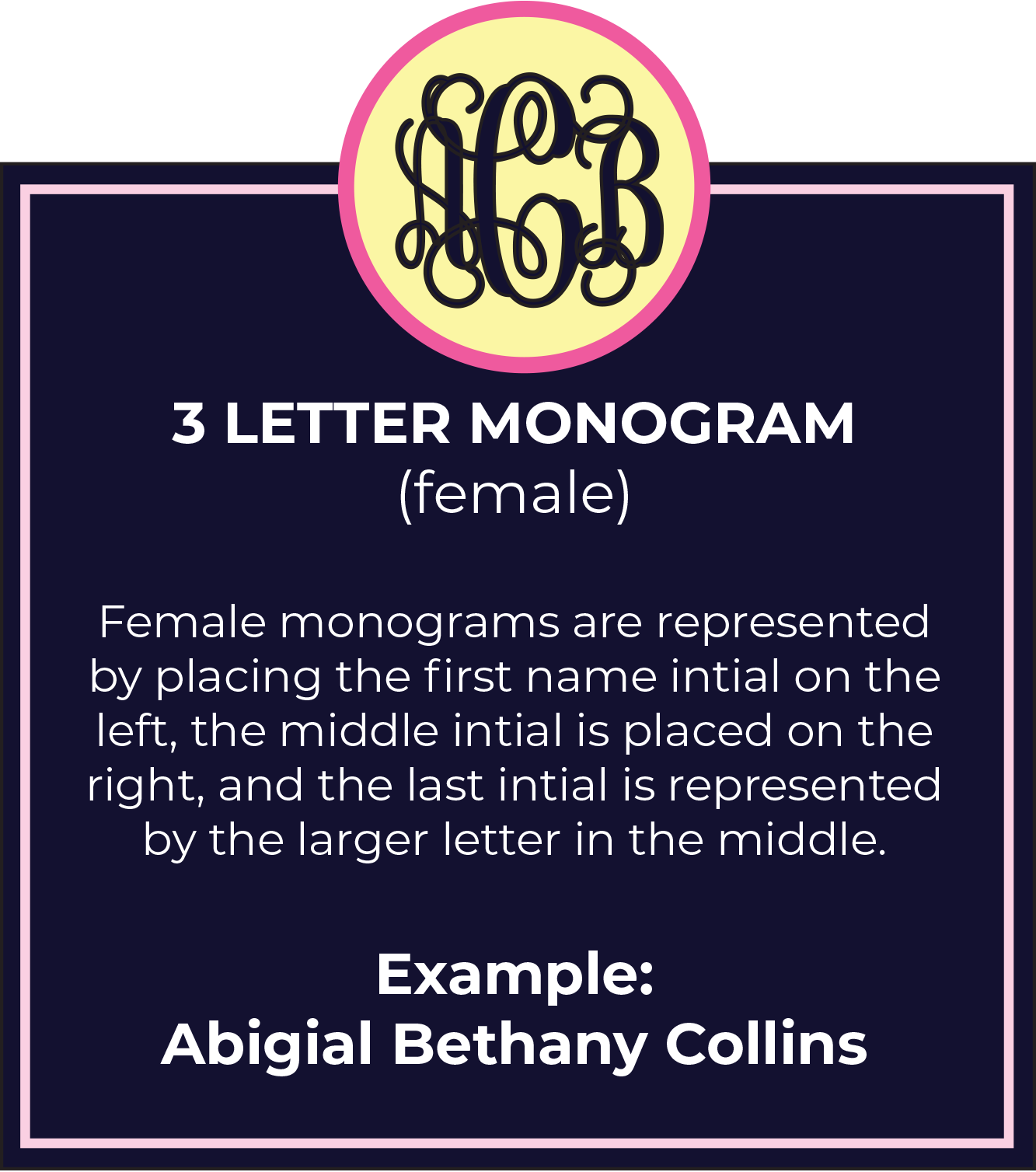 Female Monogram Etiquette