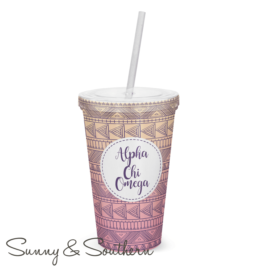Tribal Greek Sorority Tumbler, Accessories, Sunny and Southern, - Sunny and Southern,