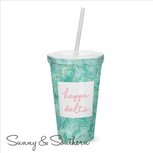 Tropical Greek Sorority Tumbler, Accessories, Sunny and Southern, - Sunny and Southern,
