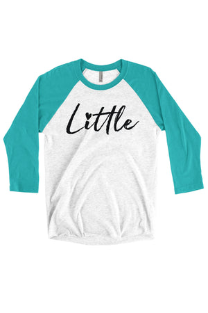 Big Little Hearts Shirt - Next Level Unisex Triblend 3/4-Sleeve Raglan, Ladies, Sunny and Southern, - Sunny and Southern,