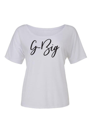Big Little Handwriting Shirt - Bella Slouchy Scoop Neck Short Sleeve, Ladies, Blank, - Sunny and Southern,