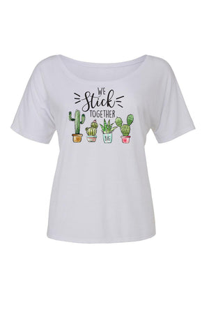 Big Little We Stick Together Shirt - Bella Slouchy Scoop Neck Short Sleeve, Ladies, Sunny and Southern, - Sunny and Southern,