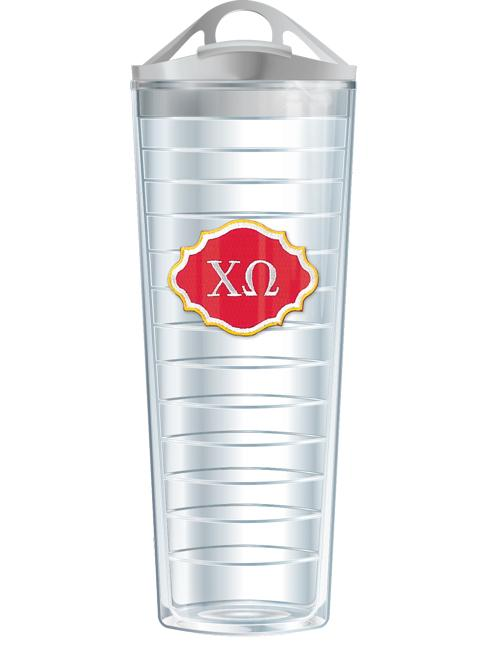 28 Ounce Sorority Emblem Sports Bottle Tumbler w/ Lid, Accessories, Signature, - Sunny and Southern,