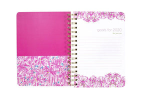 Jumbo Lilly Pulitzer 2019-2020 Agenda - Kaleidoscope Coral, Accessories, Lilly Pulitzer, - Sunny and Southern,