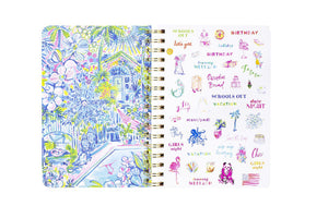 Large Lilly Pulitzer 2019-2020 Agenda - Wave after Wave, Accessories, Lilly Pulitzer, - Sunny and Southern,