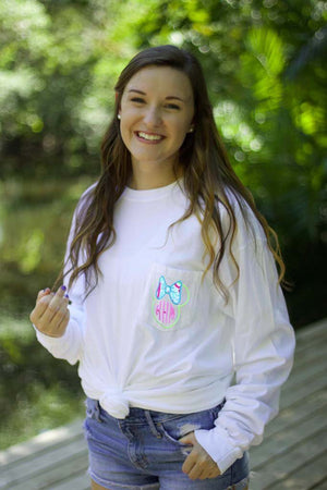 Lilly Minnie Disney Long Sleeve Pocket Tee, Ladies, virgina, - Sunny and Southern,