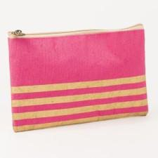 Classic Monogrammed Stripe Glamour Juco Cosmetic, Accessories, The Royal Standard, - Sunny and Southern,