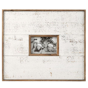 Monogrammed Large White and Natural Distressed Frame, Home, Mud Pie, - Sunny and Southern,