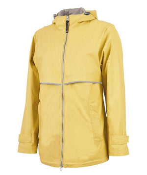 Lilly Circle Monogrammed Women's New Englander Rain Jacket, ladies, Charles River, - Sunny and Southern,
