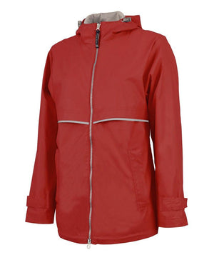 Monogrammed Women's New Englander Rain Jacket, ladies, Charles River, - Sunny and Southern,
