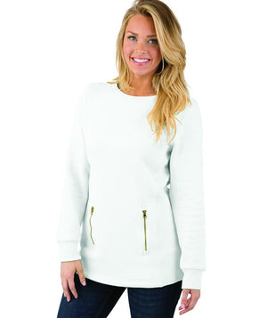 Vinyl Front Monogrammed Scoop Neck Jacket, Ladies, charles river, - Sunny and Southern,