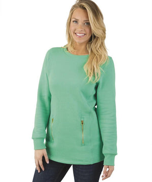 Front Monogrammed Scoop Neck Jacket, Ladies, charles river, - Sunny and Southern,