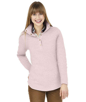 Classic Monogrammed Snap Pullover, Ladies, Charles River, - Sunny and Southern,