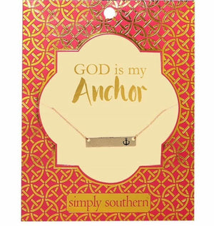 Simply Southern Anchor Necklace, Accessories, Simply Southern, - Sunny and Southern,