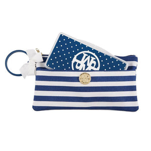 Monogrammed Lil' Biter Bangle Bag, accessories, Mud Pie, - Sunny and Southern,