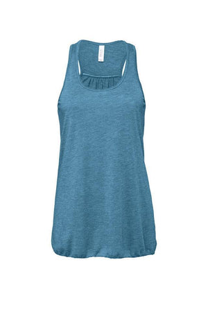Greek Square Established Date Bella Canvas Flowy Racerback Tank, Ladies, Sunny and Southern, - Sunny and Southern,