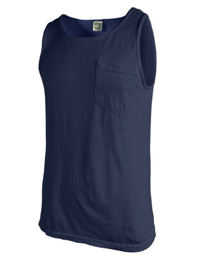 Monogram Comfort Colors Tank Top Pocket, ladies, Comfort Colors, - Sunny and Southern,