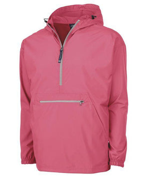 Lilly Scallop Monogrammed Womens Anorak Windbreaker - No Liner, Ladies, Charles River, - Sunny and Southern,