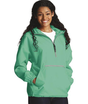 Classic Monogrammed Regular Womens Anorak Windbreaker - No Liner, Ladies, Charles River, - Sunny and Southern,