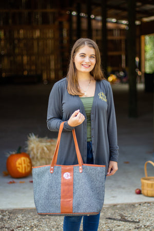 Classic Monogrammed Tote Bag, Accessories, Sunny and Southern, - Sunny and Southern,