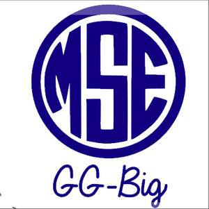 Monogrammed Vinyl Decal Circle GGBig, Accessories, Sunny and Southern, - Sunny and Southern,