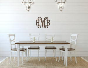 Classic Vine Wood Monogram, Home, WB, - Sunny and Southern,