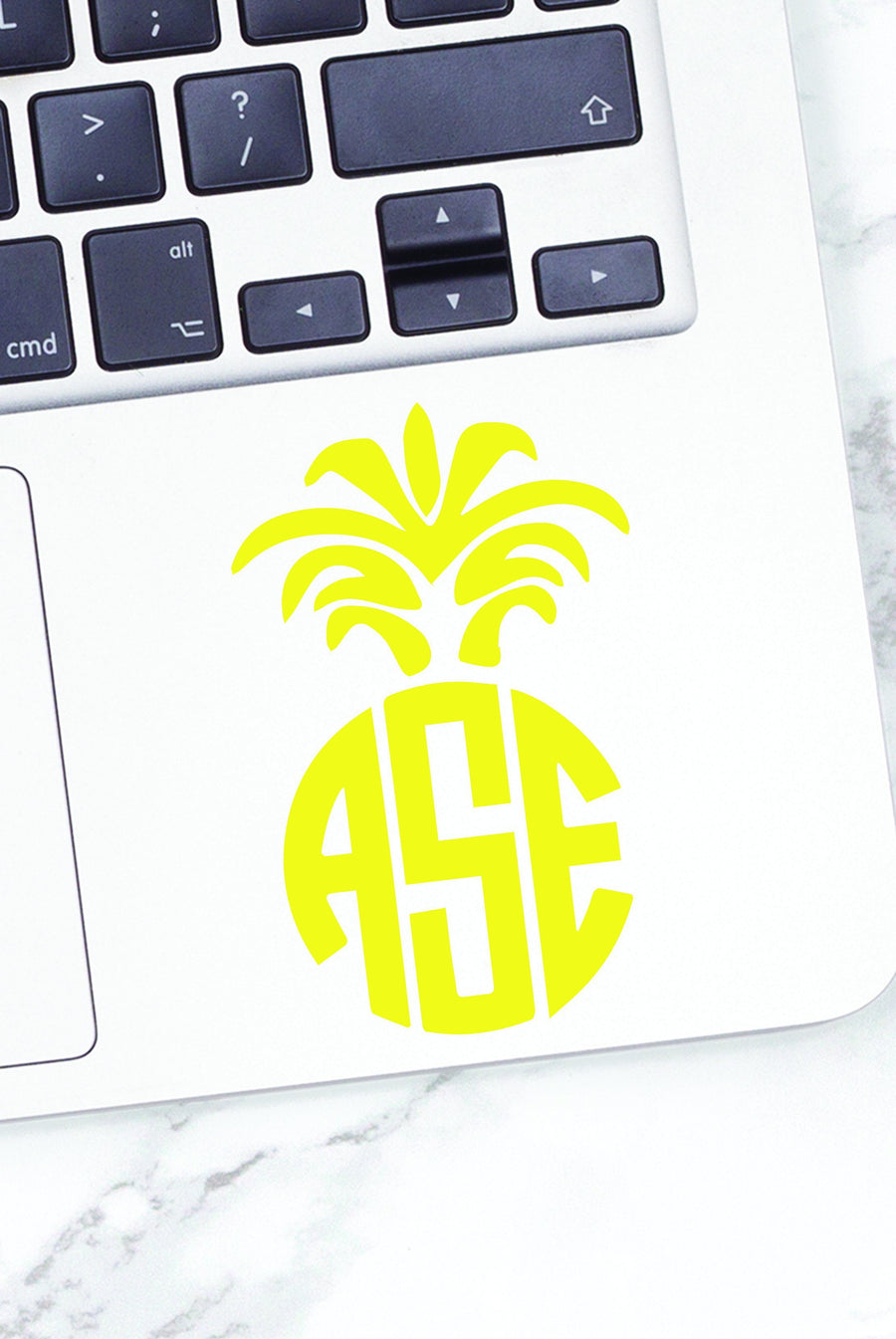 Monogrammed Vinyl Decal Pineapple, Accessories, Sunny and Southern, - Sunny and Southern,