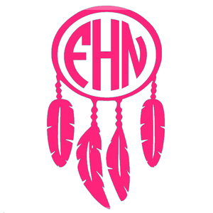 Monogrammed Vinyl Decal Dream Catcher, Accessories, Sunny and Southern, - Sunny and Southern,
