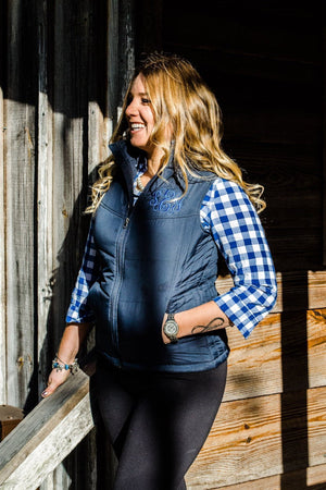 Monogrammed Puffy Vest, ladies, Sunny and Southern, - Sunny and Southern,