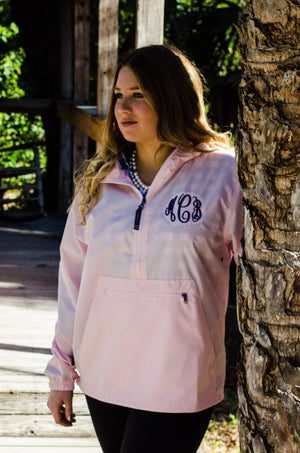 Regular MonogramWomens Anorak Windbreaker - No Liner, Ladies, Charles River, - Sunny and Southern,