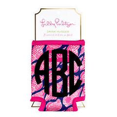Monogrammed Lilly Pulitzer Monogrammed  Single Koozie - Sunny and Southern - 1