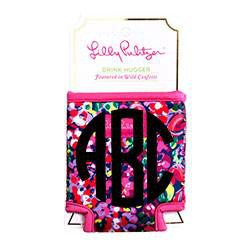 Lilly Pulitzer Monogrammed  Single Koozie, accessories, Lilly Pulitzer, - Sunny and Southern,