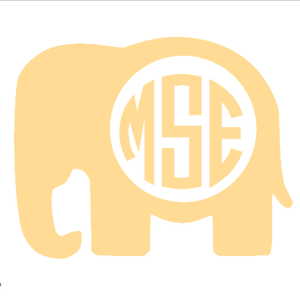 Monogrammed Vinyl Decal Elephant, Accessories, Sunny and Southern, - Sunny and Southern,