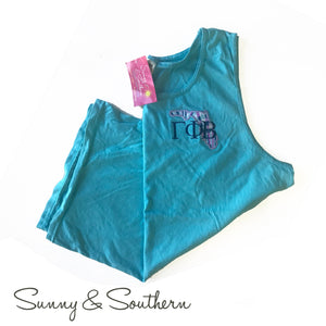 Lilly State Monogrammed Unisex Tank Top, Ladies, Virginia, - Sunny and Southern,
