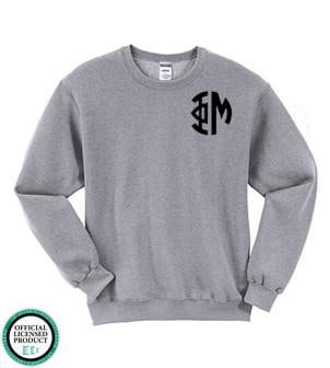 Monogrammed Greek Crew Neck Sweatshirt - Sunny and Southern - 1