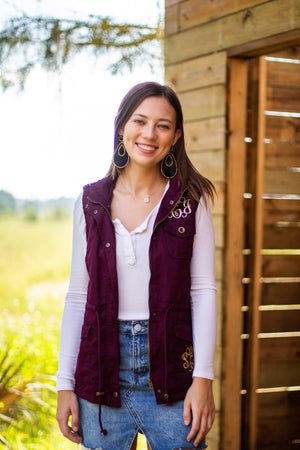 Classic Monogrammed Utility Vest, Ladies, Sunny and Southern, - Sunny and Southern,