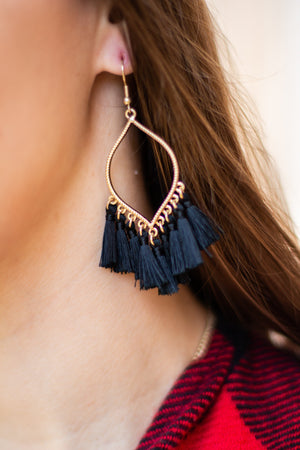 Emma Gold Tassel Statement Earrings, Accessories, Sunny and Southern, - Sunny and Southern,