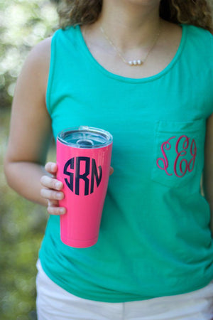 Monogrammed 30 Ounce SIC Tumbler, Accessories, SIC, - Sunny and Southern,