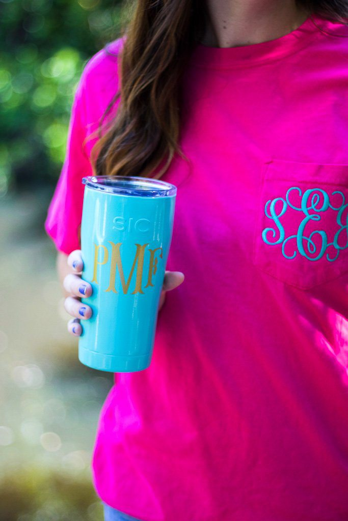 Monogrammed 20 Ounce SIC Tumbler, Accessories, SIC, - Sunny and Southern,