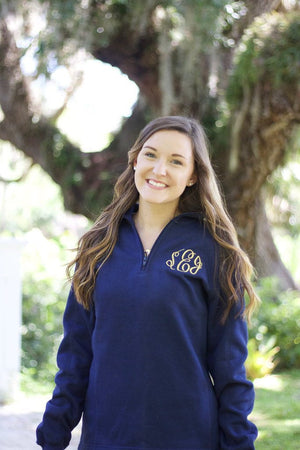 Monogrammed 1/4 Quarterzip Sweatshirt Jacket, Ladies, Sanmar/virg, - Sunny and Southern,