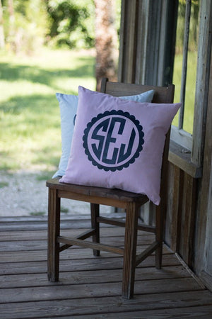 Monogrammed Seersucker Pillowcase, Home, SunnySouthern, - Sunny and Southern,